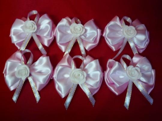 Бутоньерка Лола розовая (6шт)