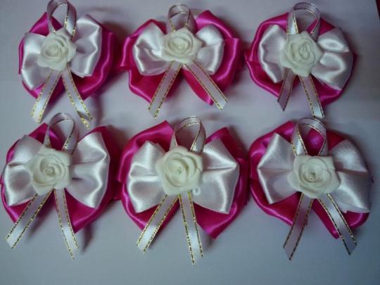 Бутоньерка Лола ярко-розовый (6шт)