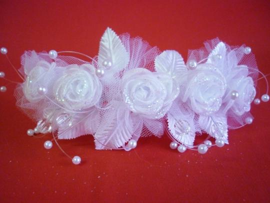 Веночек белый Роза в фатине