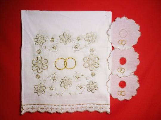 Набор венчальный (золото)