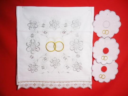 Набор венчальный (серебро)