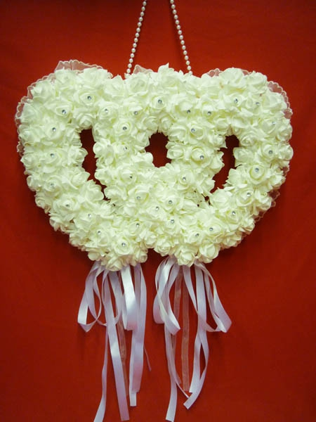 Декорация Два сердца бел. ZG-24428 60*7*55см