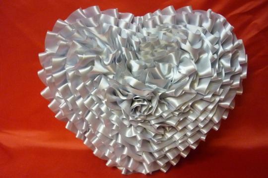 Сердце атлас серебро