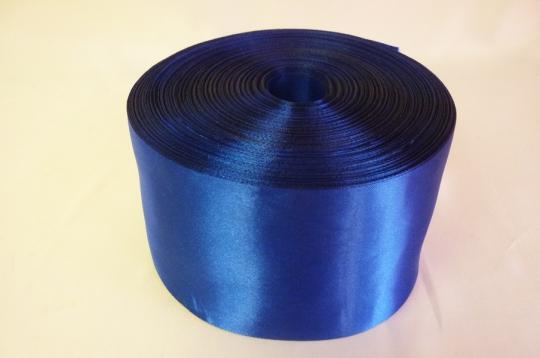 Лента атлас 8см/100м синяя