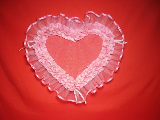 Сердце №5 п/э розовое