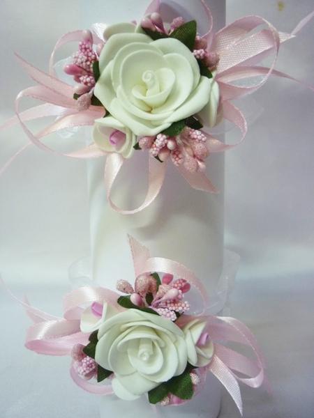 Бутоньерка №3 розовая (2шт)