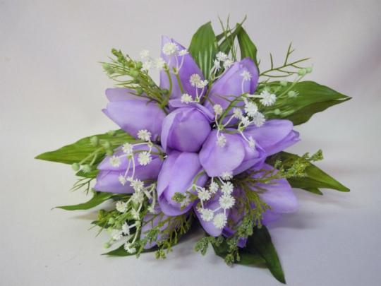 Букет для невесты Тюльпан сиреневый