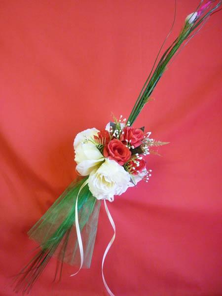 Букет для невесты №4 бело-красный