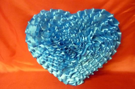 Сердце атлас морская волна