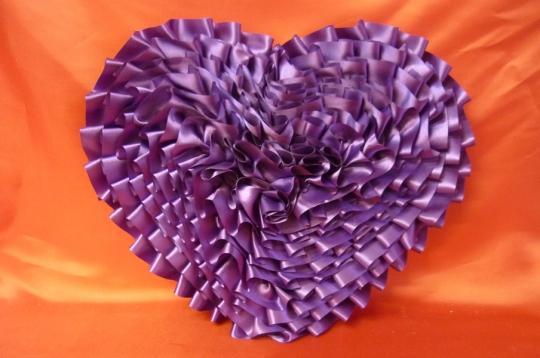 Сердце атлас фиолет