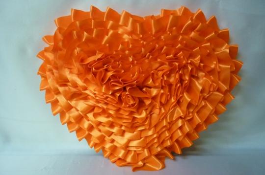 Сердце атлас оранжевое