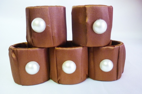 Кольца для салфеток (5шт) шоколад