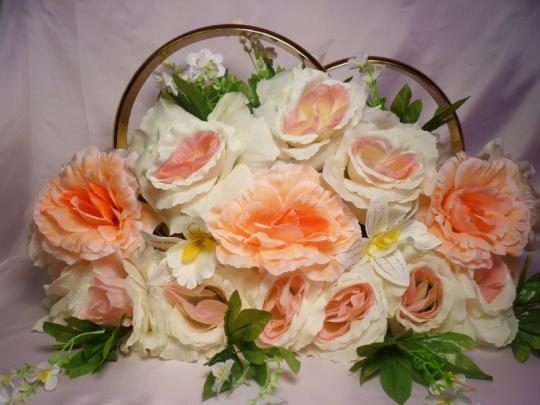 Кольца на а/м №1 чайн роза-персик