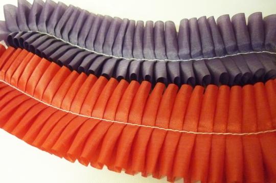 Рюш шёлк №3/3 (1 метр) выбор 19 цветов