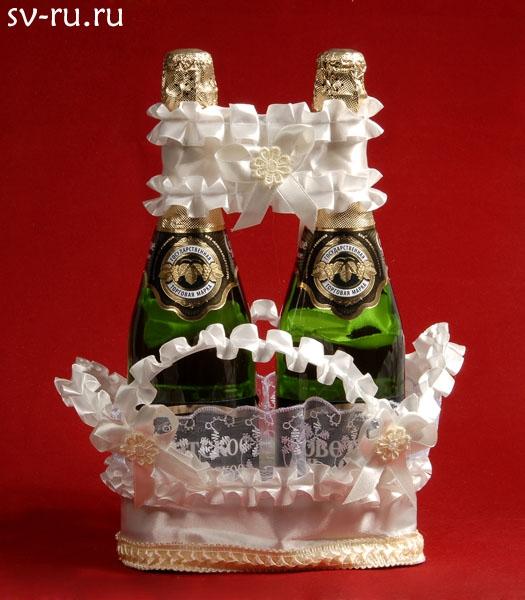 Корзина для шампанского бежевая