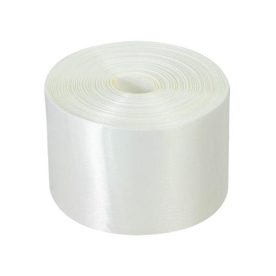 Лента атлас 10см/100м белая