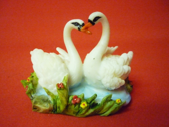 Пара лебедей 9см арт 51112