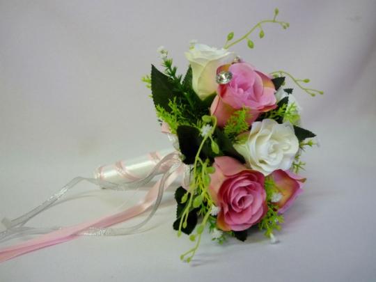 Букет Анна бело-розовый