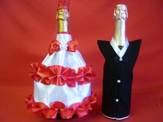Костюм на шампанское №2 бело-красный (5шт)