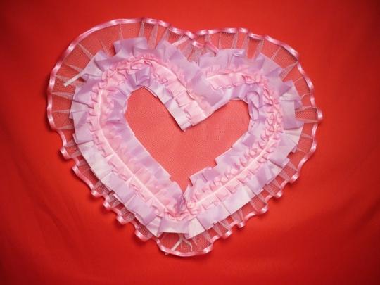 Сердце №10/5 п/э сиренево-розовое