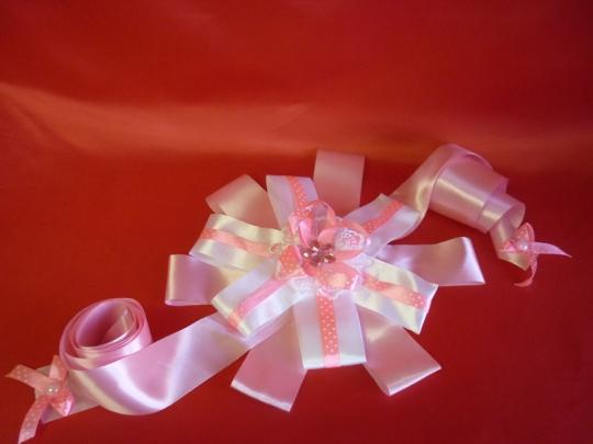 Лента на выписку розовая