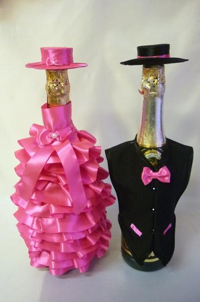 Костюм на шампанское №20 ярко-розовый (1пара)