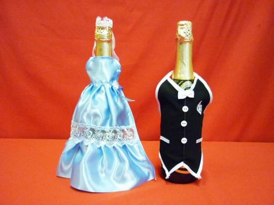 Костюм на шампанское №1 голубой (5пар)