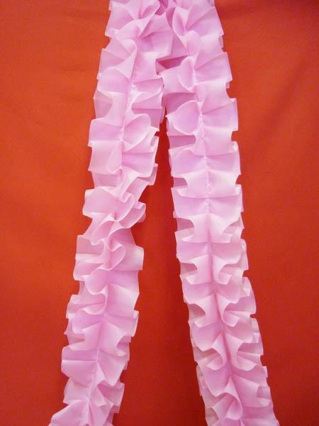 Рюш на а/м объёмная п/э розовая