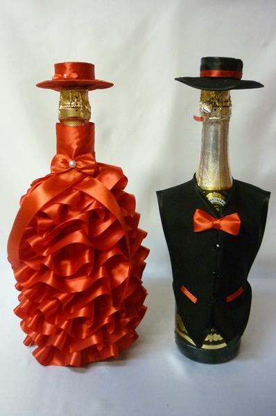 Костюм на шампанское №20 красный (1пара)