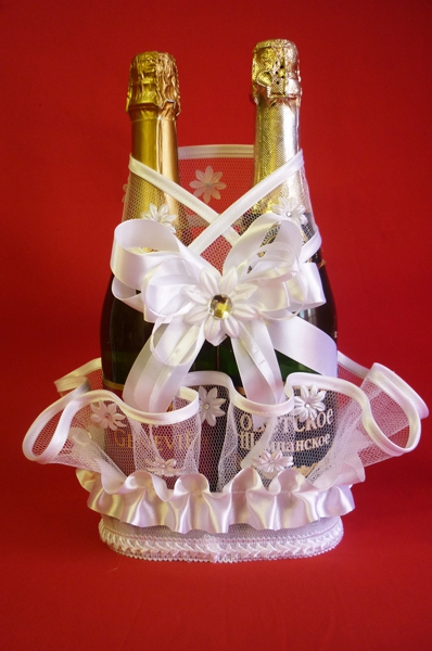 Корзина для шампанского Ария белая