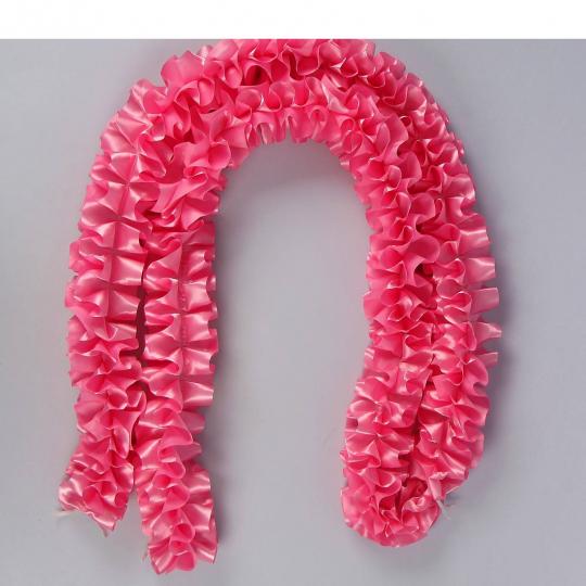 Рюшь на а/м объёмная атлас розовая