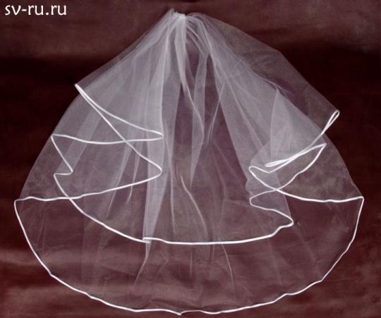 Фата круговая диам.1,5м. (бел)