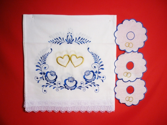 Набор венчальный (Гжель)