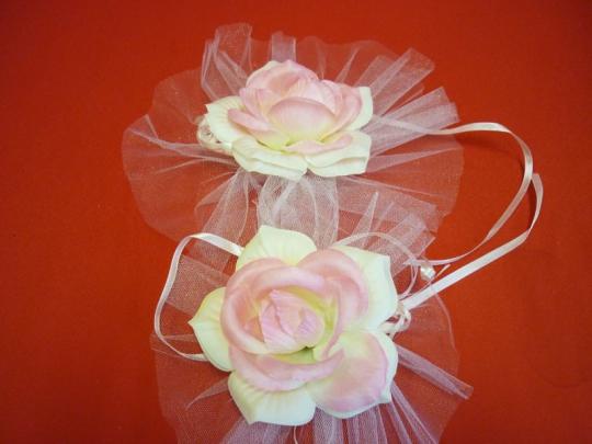 Цветы на зеркала и ручки а/м чайн. роза (уп.2 шт)