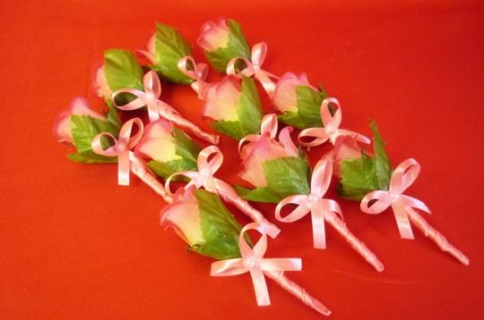 Бутоньерка Аврора ярко-розовая (10шт)