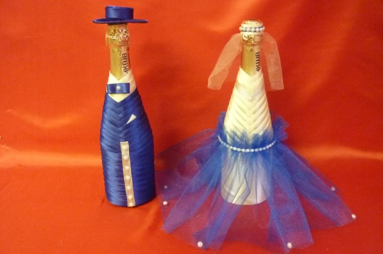 Костюм на шампанское Бейка №3 синий-айвори