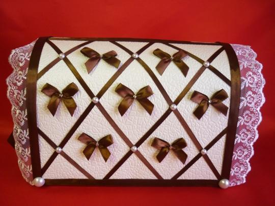Сундук Бант шоколад неразборный