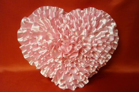 Сердце атлас розовое