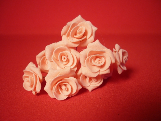 Цв. на шпильке роза №2 (уп.10шт) (персик)