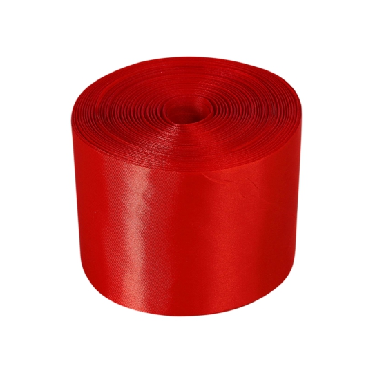 Лента атлас 10см/100м красная