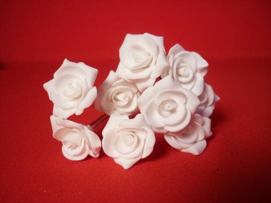 Цв. на шпильке роза №2 (уп.10шт) (бел)