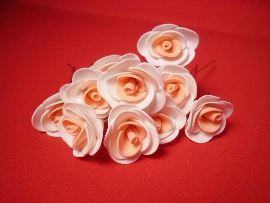 Цв. на шпильке роза (уп.10шт) (бел-перс)