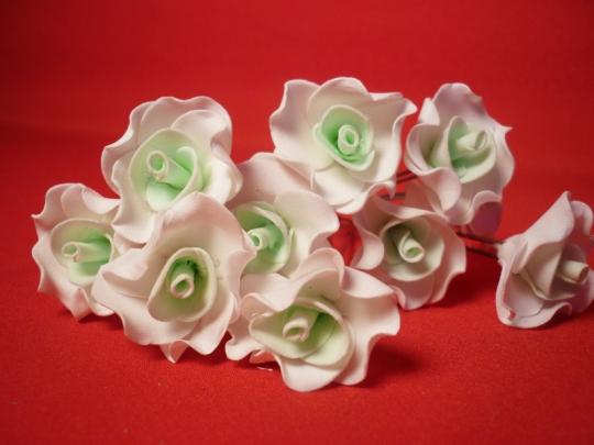 Цв. на шпильке лилия (уп.10шт) (бел-тиффани)