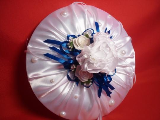 Тарелка для битья №9 бел-синий