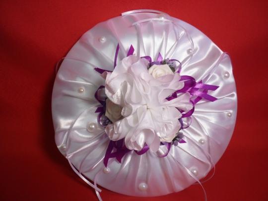 Тарелка для битья №9 бел-фиолет