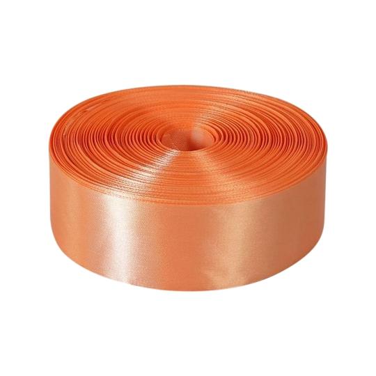 Лента атлас 5см/100м персик