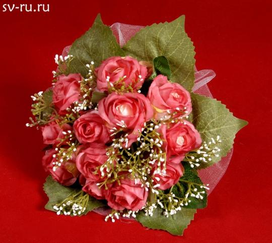 Букет для невесты Роза тёмно-розовый
