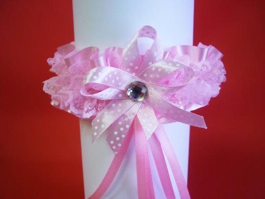 Подвязка №1 розовая