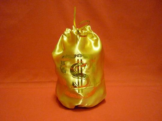 Мешок для денег золотой (упак 10шт.)