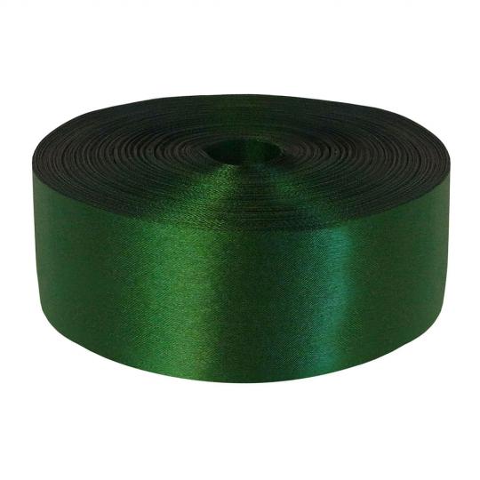 Лента атлас 5см/100м зелёная